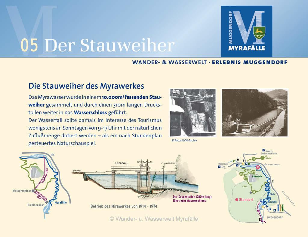 """Informationstafel zur 5. Themenstation """"Stauweiher"""""""