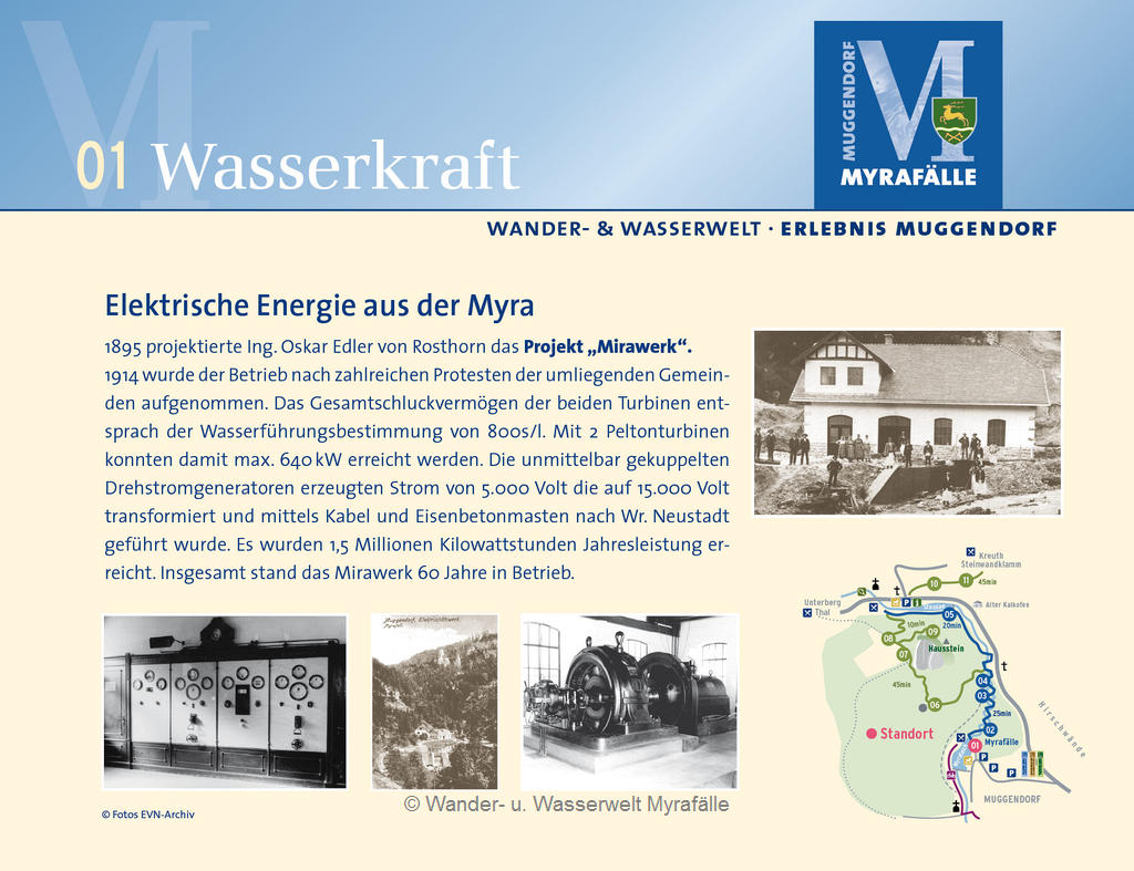 """Themenstation 1 """"Altes E-Werk - Wasserkraft"""""""
