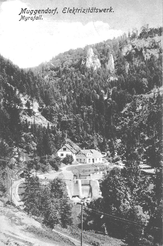 Elektrizitätswerk Muggendorf am Myrafall | © EVN Archiv